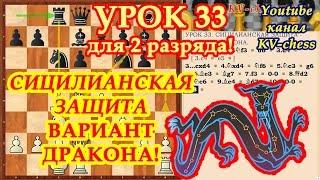 Сицилианская защита Вариант Дракона - Урок 33 для 2 разряда.