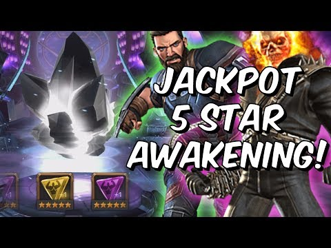 Jackpot 5 Star Awakening Gem Crystal Opening! - Awakened God Tier! - Marvel Contest Of Champions