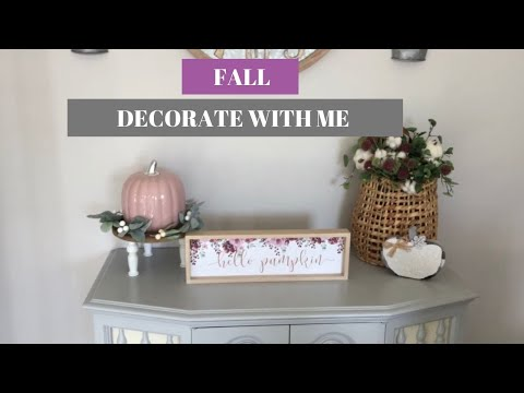 FALL DECORATE WITH ME 2019 | FALL DECORATING IDEAS | Decorate With Dana
