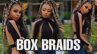 BOX BRAIDS/ TRANÇAS GROSSAS COLORIDAS| TUTORIAL( COLOCAÇÃO,COR E ETC)!!!