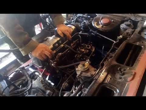 Запуск двигателя Nissan Bluebird, после капремонта.