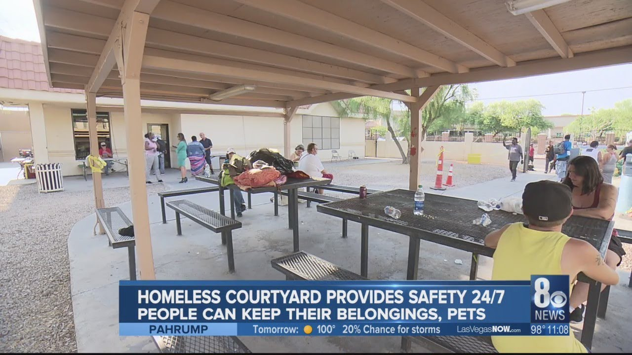 Homeless courtyard provides safety 24 hours, seven days weekly