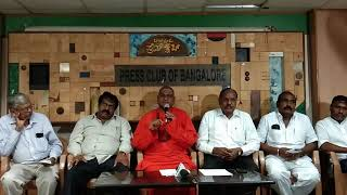 Sri Valmiki Prasannanda Swamiji addressing Media in Press Club of Bangalore