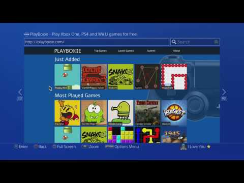 How to PLAY WEB BROWSER GAMES ON PS4! (FREE GAMES)