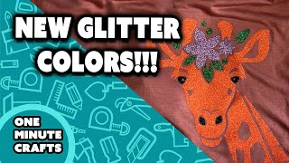 [NEW GLITTER COLORS] Glitter Giraffe - One Minute Crafts