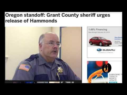 Burns Oregon--Obama Set to Settle Score against Oregon Sheriff