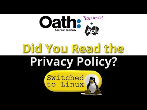 New Yahoo and AOL Privacy Policy!