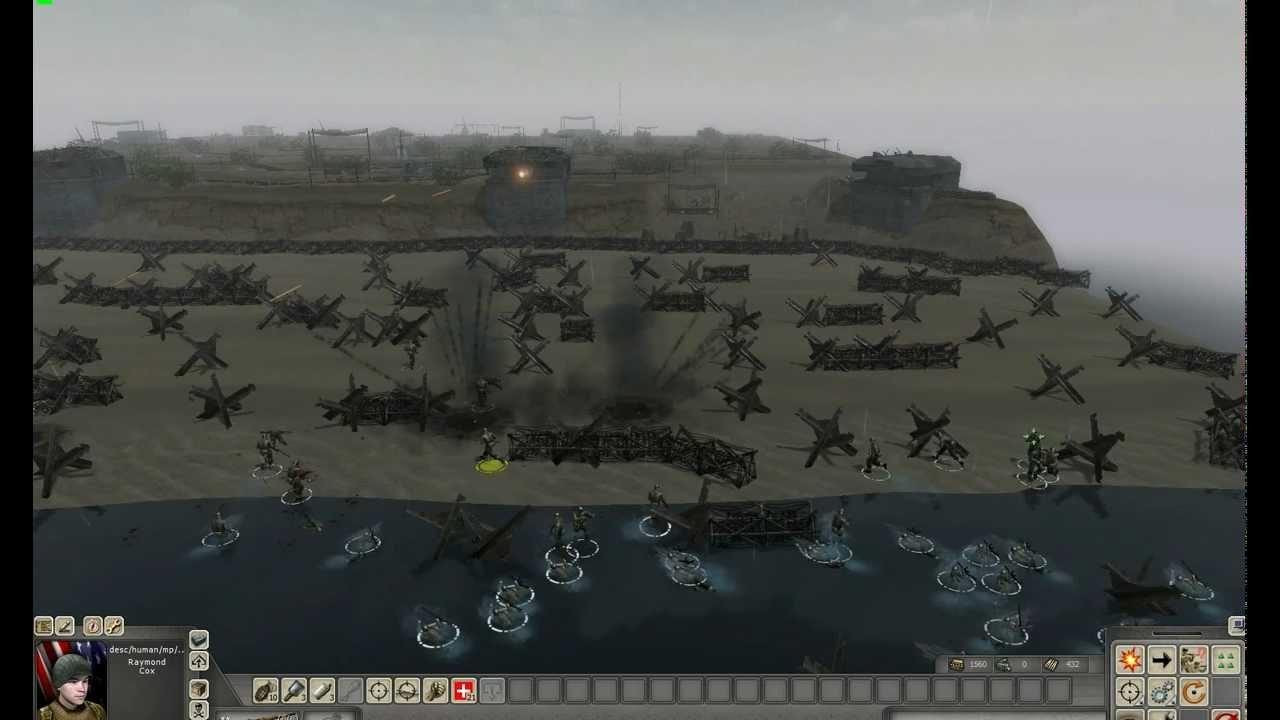 Omaha Beach Men Of War Landing - YouTube