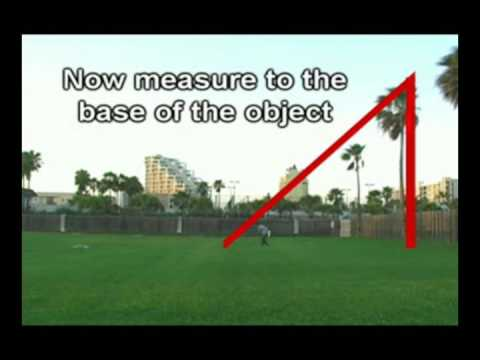Measure Height Of Any Tall Object YouTube - Land height