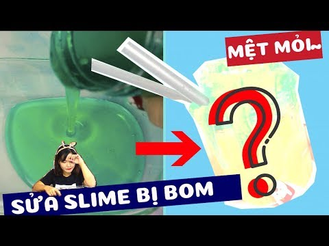 PHỤC HỒI SLIME | Sửa slime trong bị lỏng bưu phẩm bị bom | Makeover slime p1