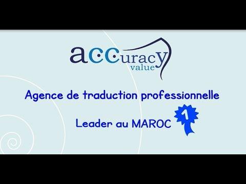 ACCURACY VALUE : AGENCE DE TRADUCTION À CASABLANCA, MAROC | BUREAU DE TRADUCTION