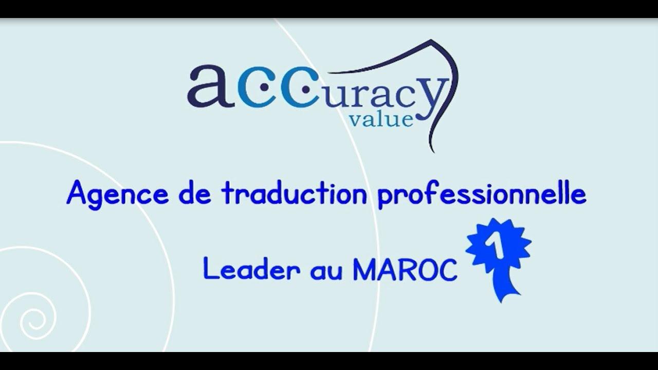 Accuracy Value Agence De Traduction Professionnelle à