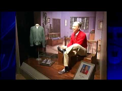 Wax Statue Of Mr Rogers Unveiled Youtube