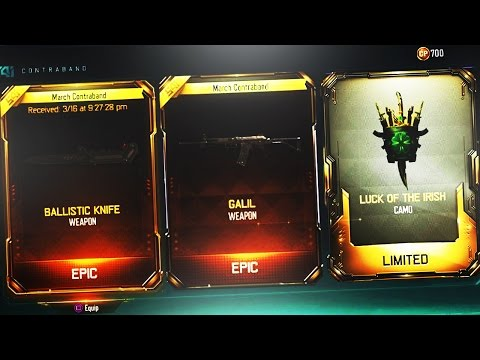 UNLOCKING GALIL & BALLISTIC KNIFE IN BLACK OPS 3! NEW DLC WEAPON SUPPLY DROP OPENING! (DLC Weapons)