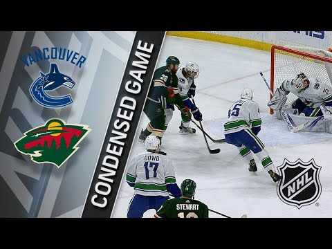 01/14/18 Condensed Game: Canucks @ Wild