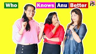 WHO KNOWS ANU BETTER l Anu Vs Ayu & Mummy l Ayu And Anu Twin Sister