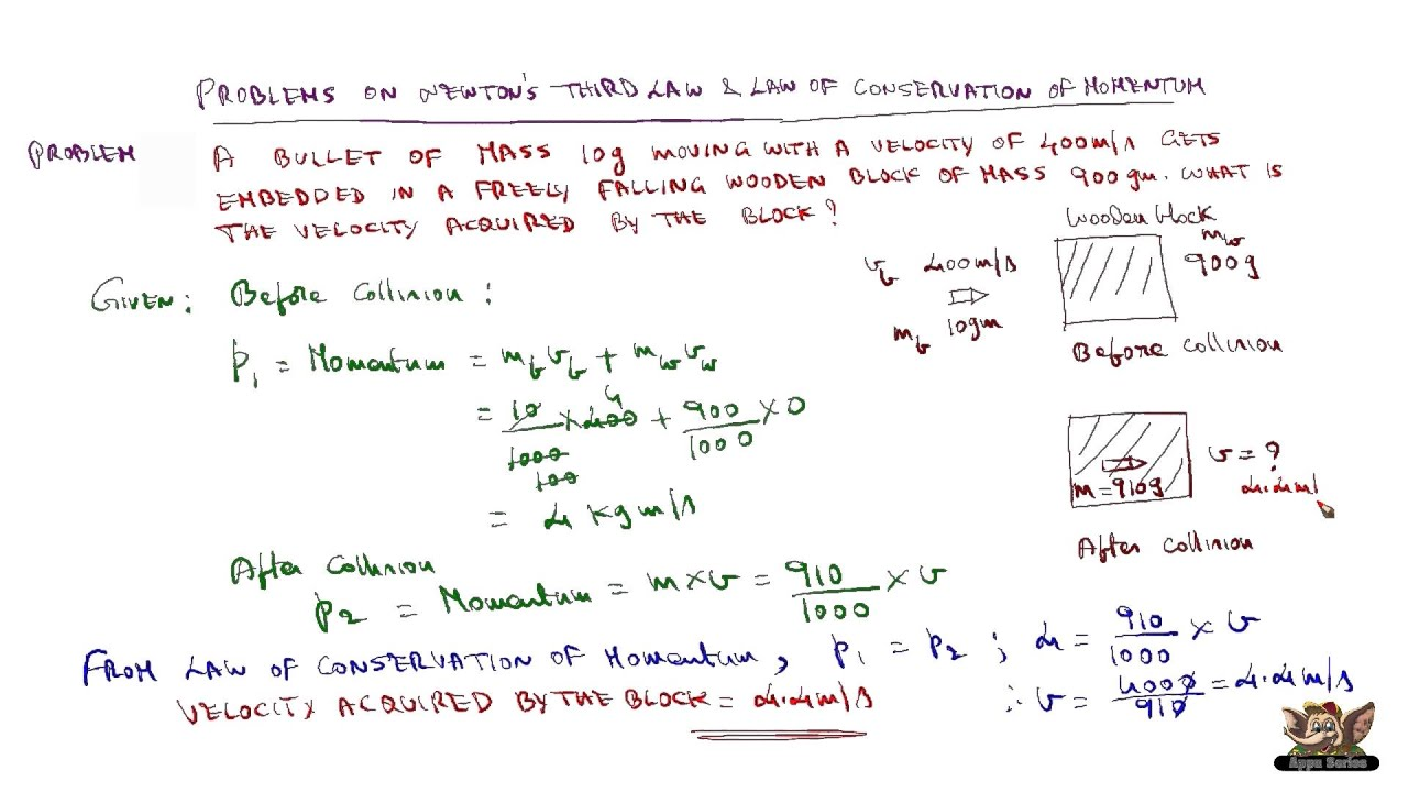 Problems On Law Of Conservation Of Momentum Youtube