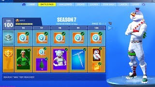 Fortnite Season 7 BATTLE PASS - ALL SKINS & ITEMS TIER 100 SHOWCASE in Fortnite Battle Royale