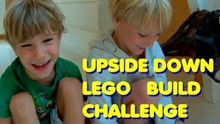 Upside Down Lego Build Challenge - Police Helicopter Vs Creator 3 In 1