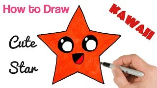 How to Draw a Star Cute and Cartoon | Super easy art tutorial for kids