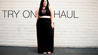 PLUS SIZE FASHION TRY ON HAUL | boohoo, shoes & the curviest dodgers fan