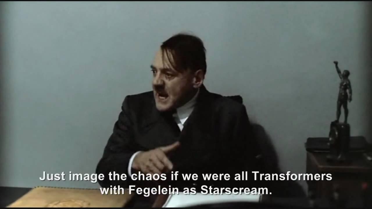 Hitler is informed he would make a good Megatron