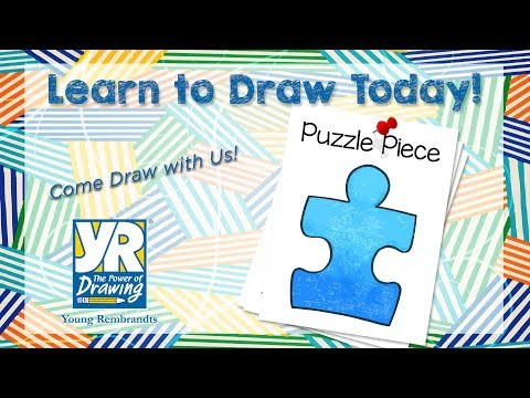 Teaching Kids How to Draw: How to Draw a Puzzle Piece
