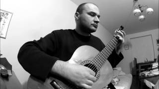 Blowing in the wind - classical guitar