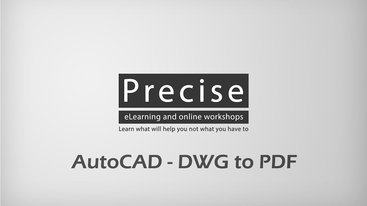 how to convert autocad drawing to pdf