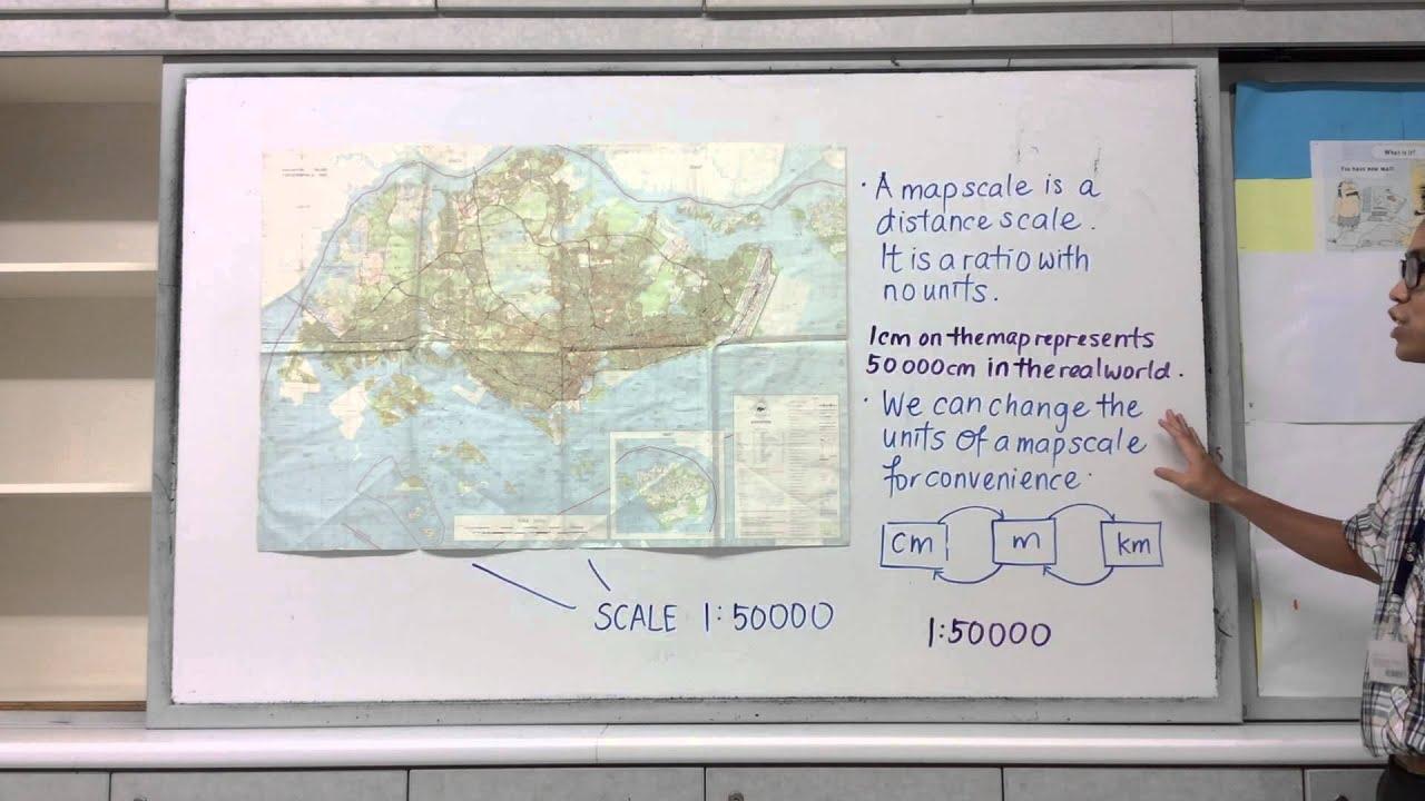 Map scales + unit conversion - Lesson
