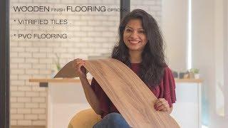 Wooden finish tile and vinyl flooring installation India  l Ask Iosis Hindi Interior Design India.