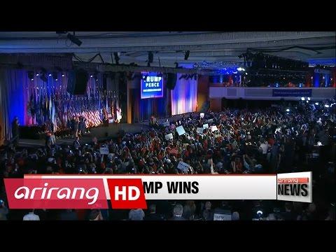 ARIRANG NEWS BREAK 20:00 Trump elected U.S. president