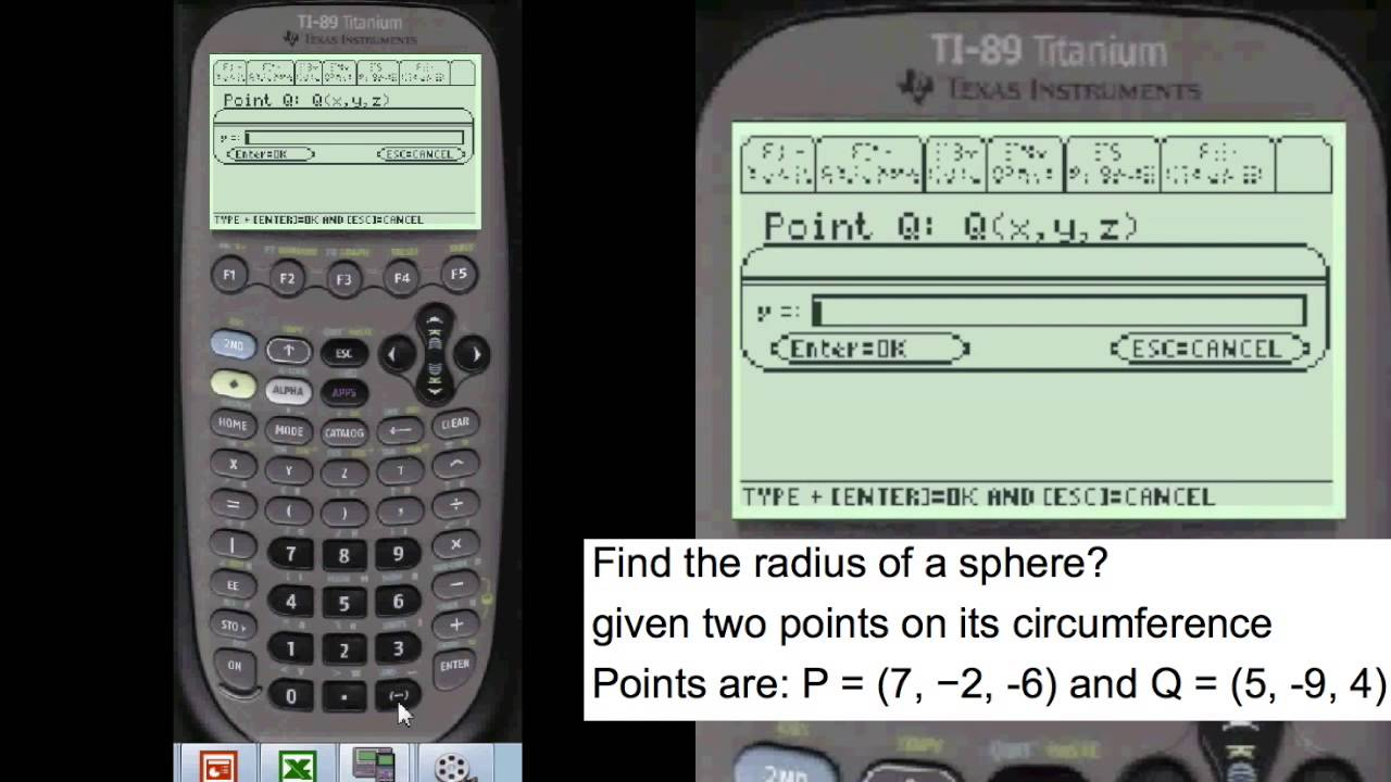 Ti 89 find radius of sphere every step calculus youtube ti 89 find radius of sphere every step calculus falaconquin