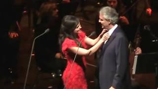Andrea Bocelli & larisa Martinez  in Chicago Dec 6 2017