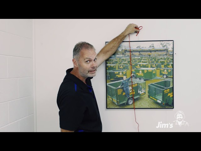 How to hang a picture frame with Tim from Jim's Handyman - www.jims.net 131 546