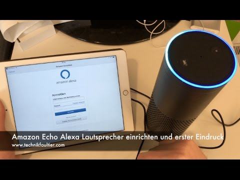 amazon echo alexa lautsprecher einrichten und erster eindruck youtube. Black Bedroom Furniture Sets. Home Design Ideas