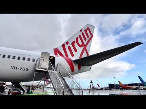 SCRATCHY VIRGIN Australia B737 ECONOMY Class: VA213 Melbourne To Adelaide