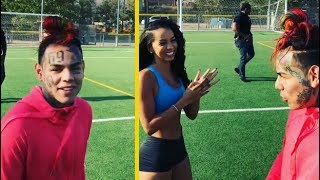 6IX9INE Loses Soccer Bet To Model Bundle Of Brittany! *HE HAS TO MOVE TO LA*