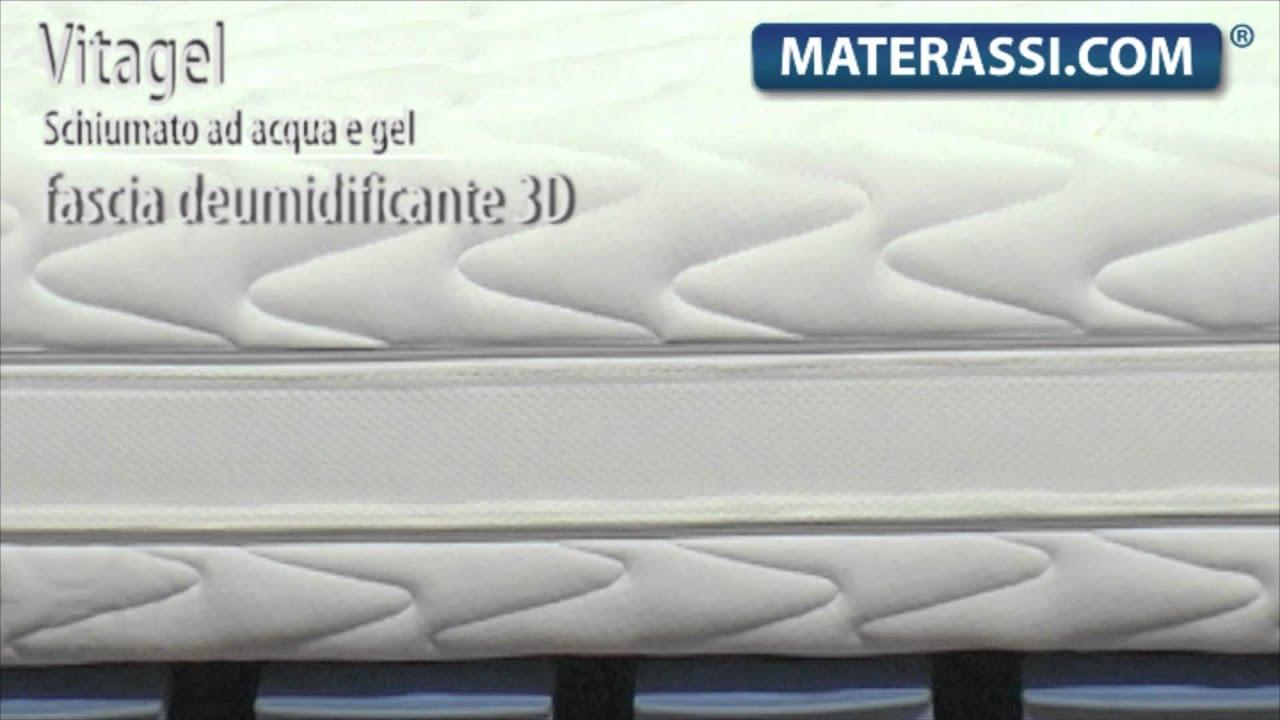 Materassi E Materassi Memory.Materasso In Memory Gel Mod Vitagel 3d Youtube