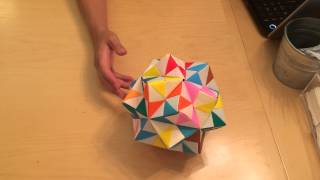 How To Make A Giant Asteroid Ornament Using 30 Modular Origami Units