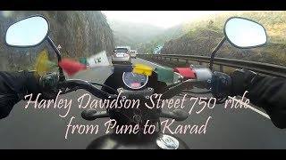 Harley Davidson Street 750  ride from Pune to Karad