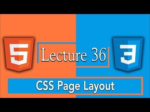 Css Page Layout And Html5 Layout Code For Website |  36 - HTML5 and CSS3 Complete Course Tutorials
