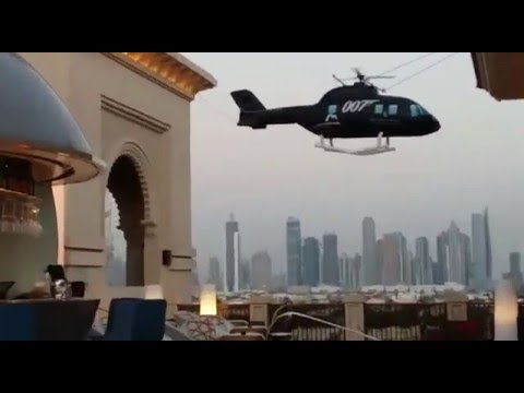 Inflatable helicopter  for James Bond Event 2015 in Four Seasons Resort Jumeirah