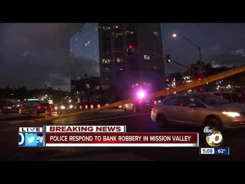Witness describes Mission Valley bank robbery scene