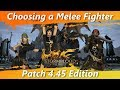 YouTube Turbo Choosing a Melee Fighter - Patch 4.45 Edition [FFXIV Fun]