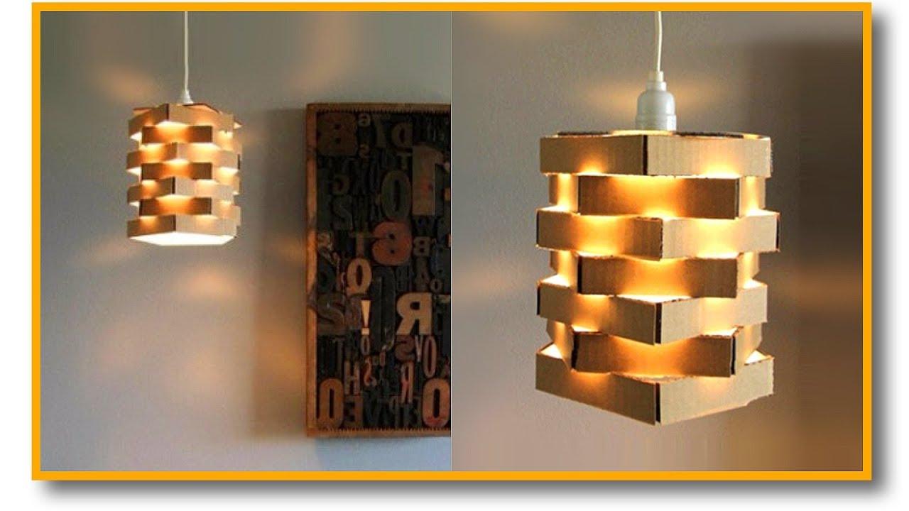 Haz La Lámpara Elegante Más Fácil Del Mundo Con Cartón Muy Fácil Pablo Inventos