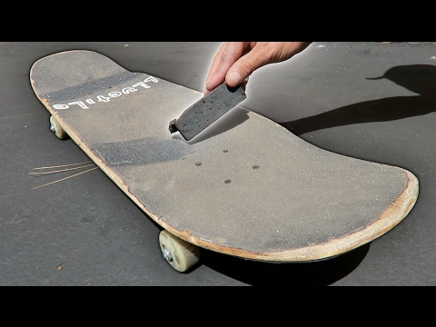 BEST WAY TO CLEAN SKATEBOARD GRIPTAPE.