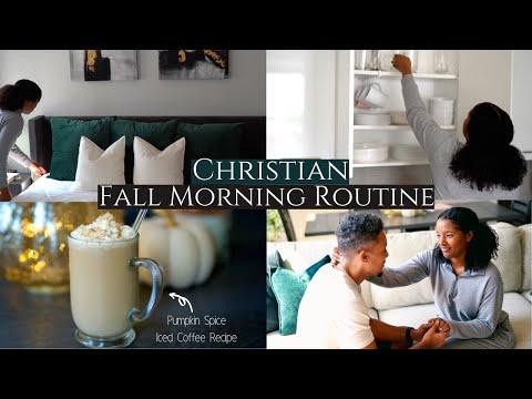 Christian Fall Morning Routine ♡ Intentionality, Pumpkin Spice Iced Coffee + Seeking God