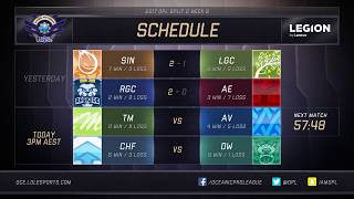 TM vs. Avant Chiefs vs. Dire Wolves For more OPL action, subscribe ...