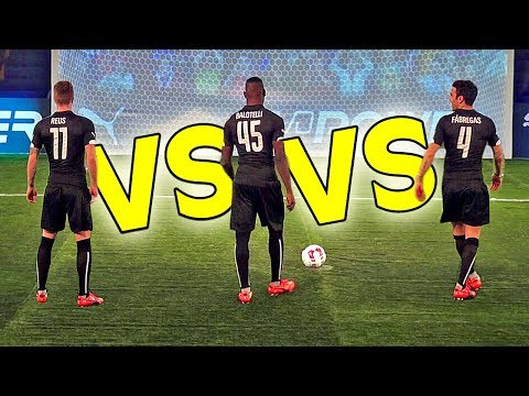 BALOTELLI vs. REUS vs. FABREGAS - evoPOWER CHALLENGE - Part 1/2